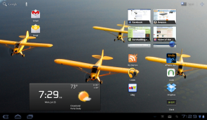 Viewsonic gTablet running Android 3.0