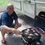 John cooking chicken for the casserol