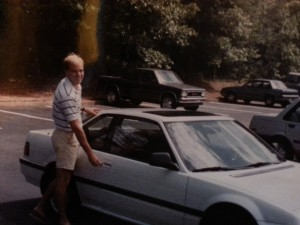 1990 Honda Prelude - note the owner's bleach blonde hair