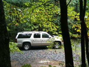 2007 Chevrolet Suburban LT - just after purchase parked at the cabin