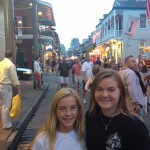 My daughters, Haley and Marcella, on Bourbon Street New Orleans