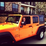My daughter, Haley, loves my new Jeep
