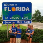Arriving in Florida after a great summer - Haley, Marcella, Jack, James and Ty