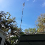 TP Link mounted at rear of RV