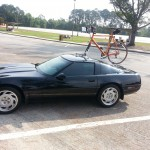 C4 Corvette with Bike Rack