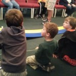 Watching pinewood derby